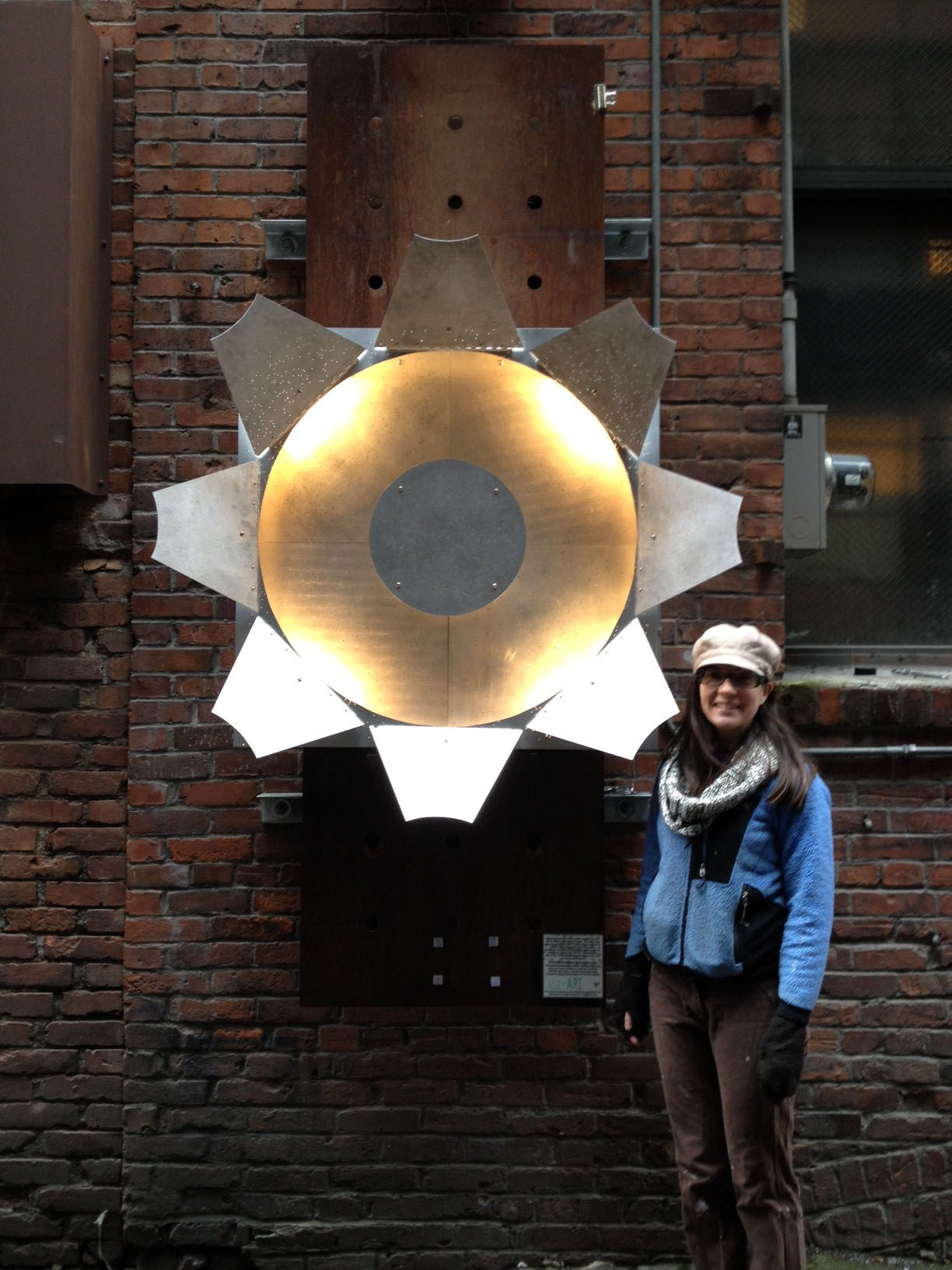 Public art by Sarah Ruether made from SDSS-II plug plates