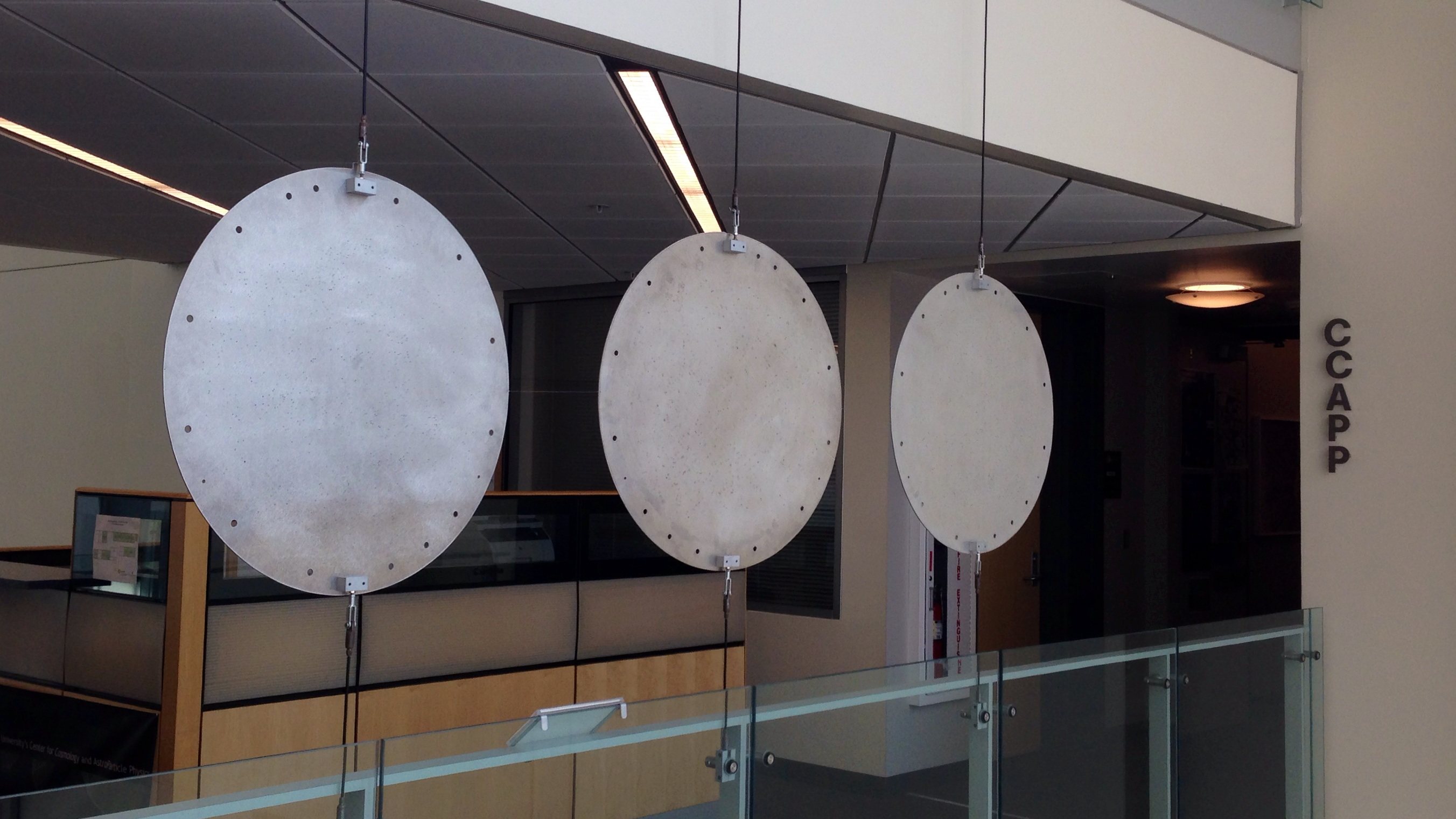 SDSS plates on display at CCAPP (Center for Cosmology and Astrophysics), Ohio State University. Image credit: Qingqing Mao.