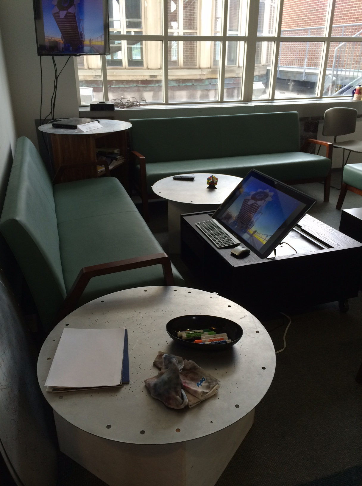 SDSS Plug Plate Coffee Tables in use at JHU. Image credit: Gail Zasowski