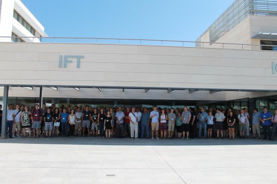 Members of the SDSS Collaboration outside the IFT in Madrid earlier this week.