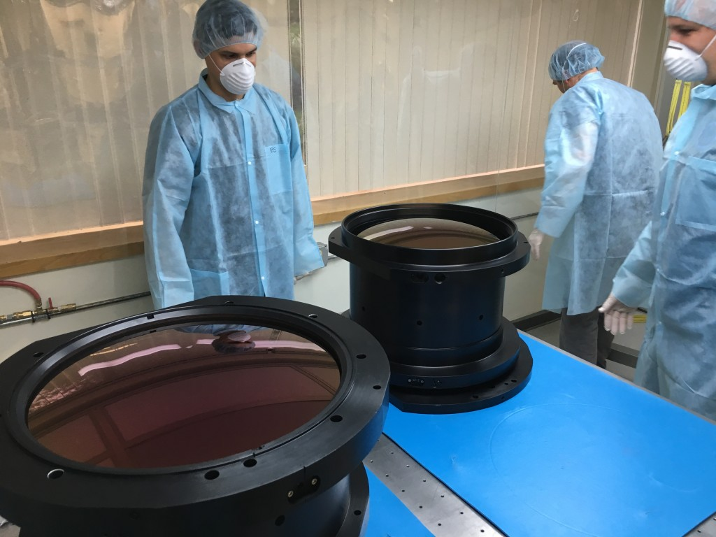 In November, New England Optical Systems finished installing the lenses into the camera barrel.