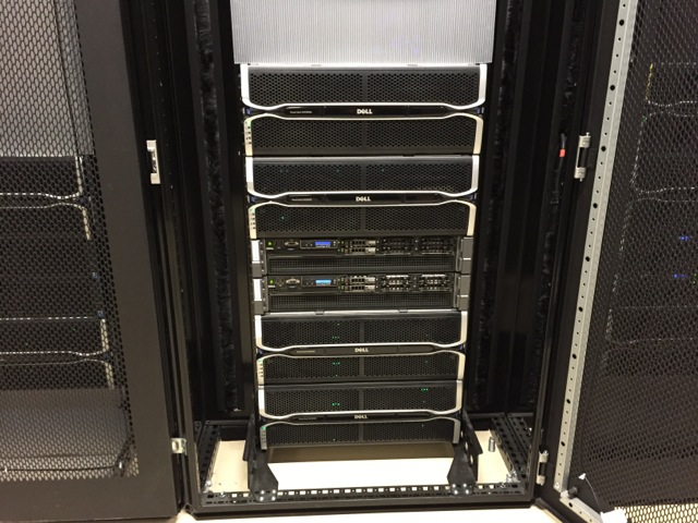 Caption: all the SDSS data are stored at the servers of the Center for High Performance Computing (CHPC[https://chpc.utah.edu/]), at the University of Utah. This particular server holds all the SDSS data releases, including DR13. The total data volume is about 267 TeraBytes (TB = 1000 Gigabyte = 1012 bytes): that is more than 58,000 DVDs worth of data! Image credit: Adam Bolton.