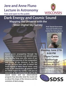 Poster for Daniel Eisenstein's public talk